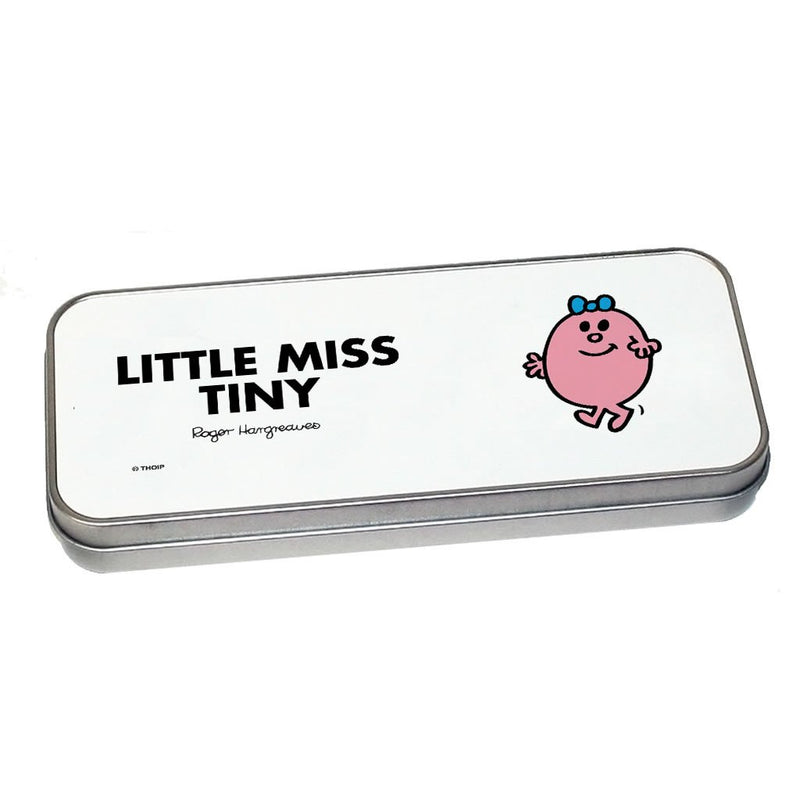 Little Miss Tiny Pencil Case Tin (Silver)