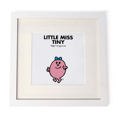 Little Miss Tiny White Framed Print