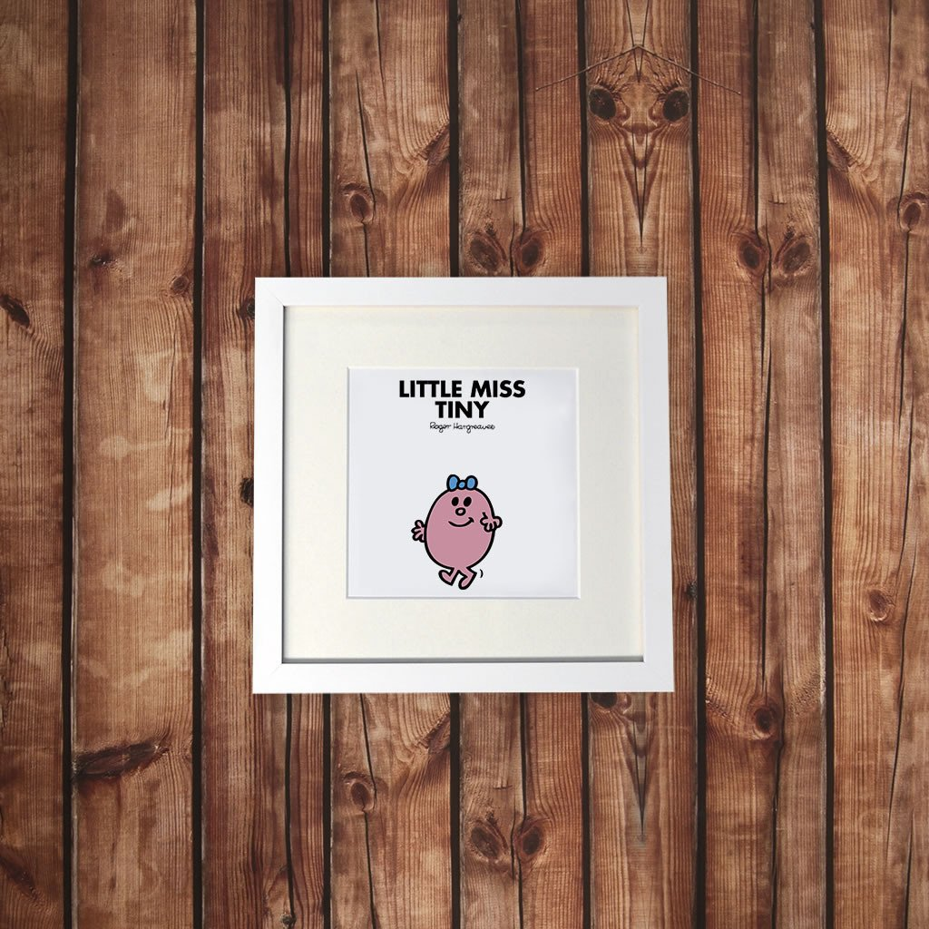 Little Miss Tiny White Framed Print (Lifestyle)