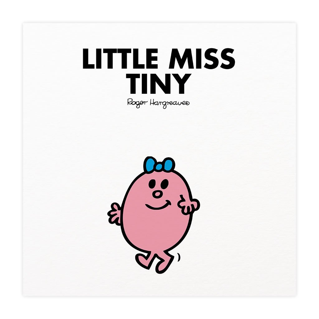 Little Miss Tiny Mounted Art Print