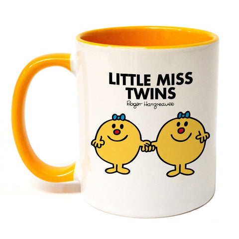 Little Miss Twins Large Porcelain Colour Handle Mug