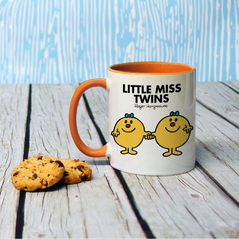 Little Miss Twins Large Porcelain Colour Handle Mug (Lifestyle)