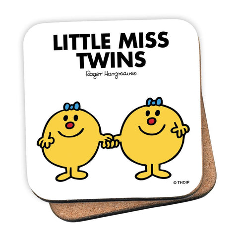 Little Miss Twins Cork Coaster