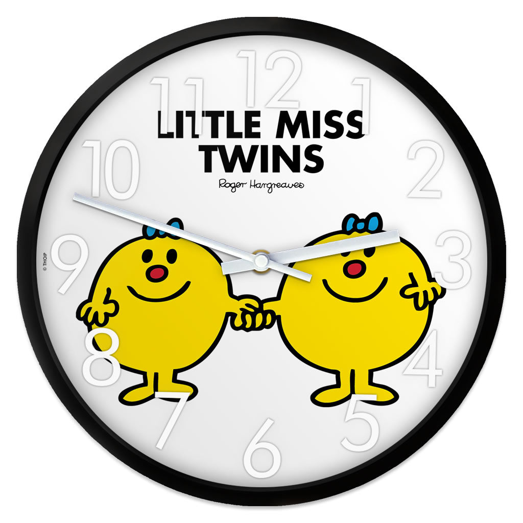 Little Miss Twins Personalised Clock