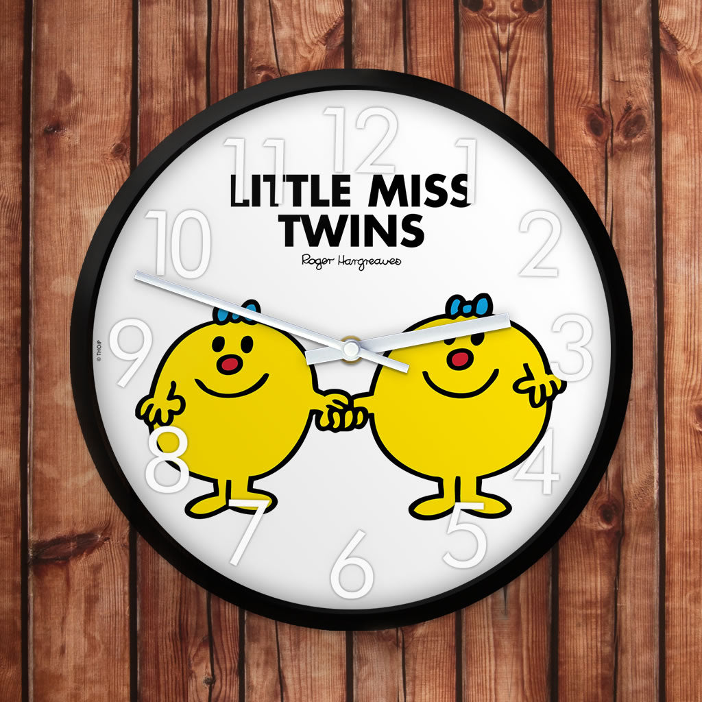 Little Miss Twins Personalised Clock (Lifestyle)