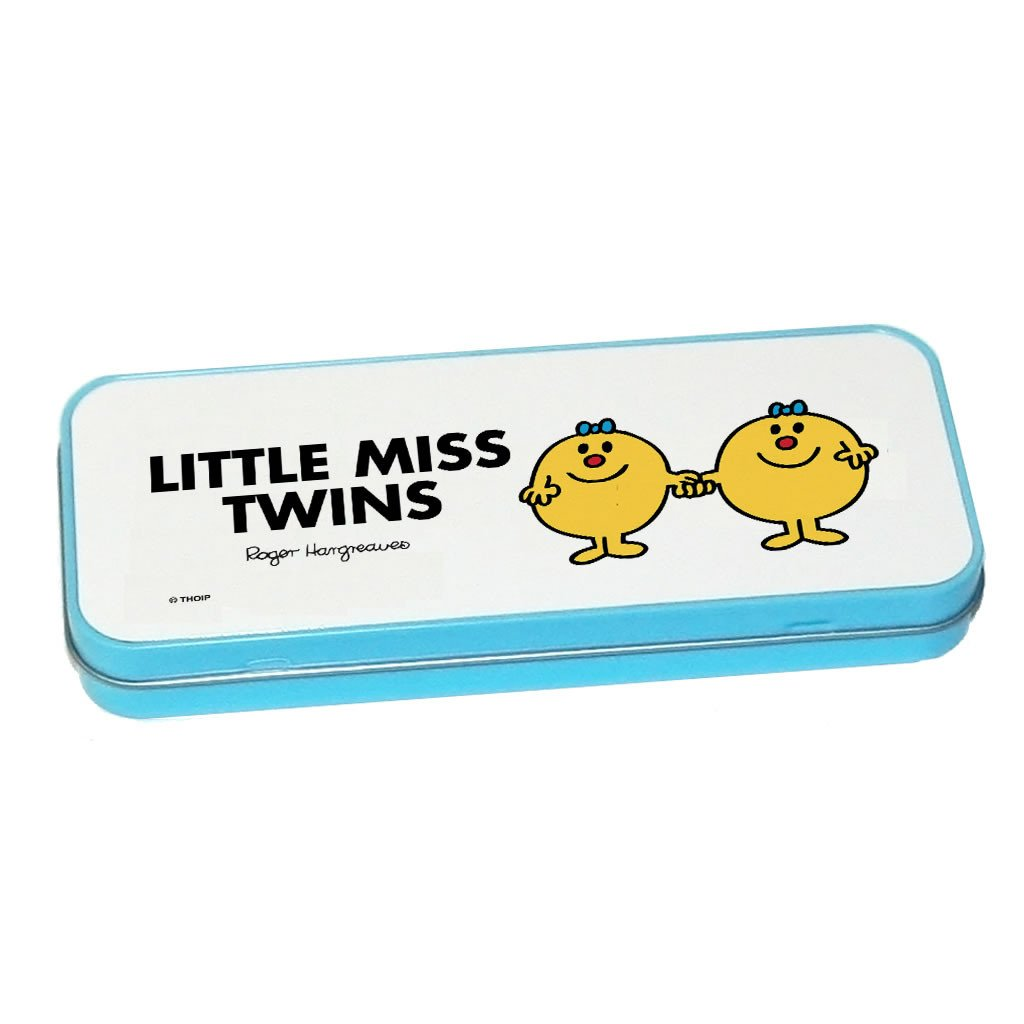 Little Miss Twins Pencil Case Tin (Blue)