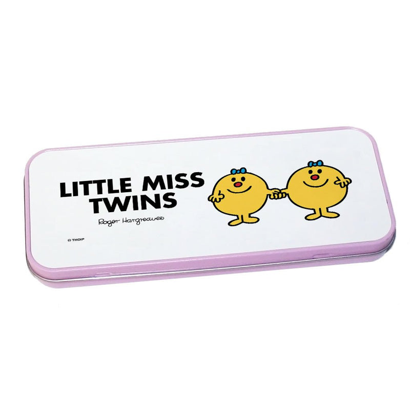 Little Miss Twins Pencil Case Tin (Pink)