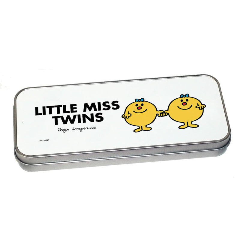 Little Miss Twins Pencil Case Tin (Silver)