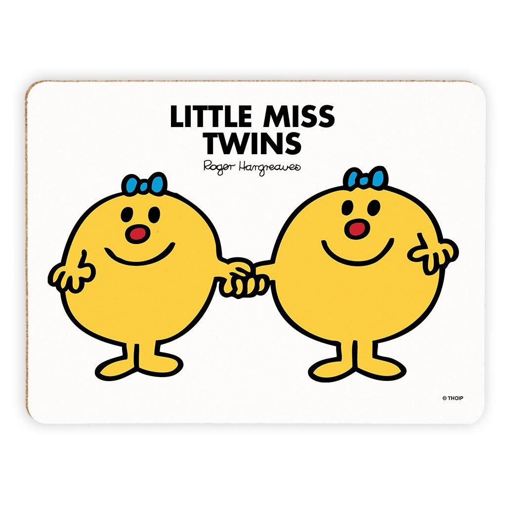 Little Miss Twins Cork Placemat