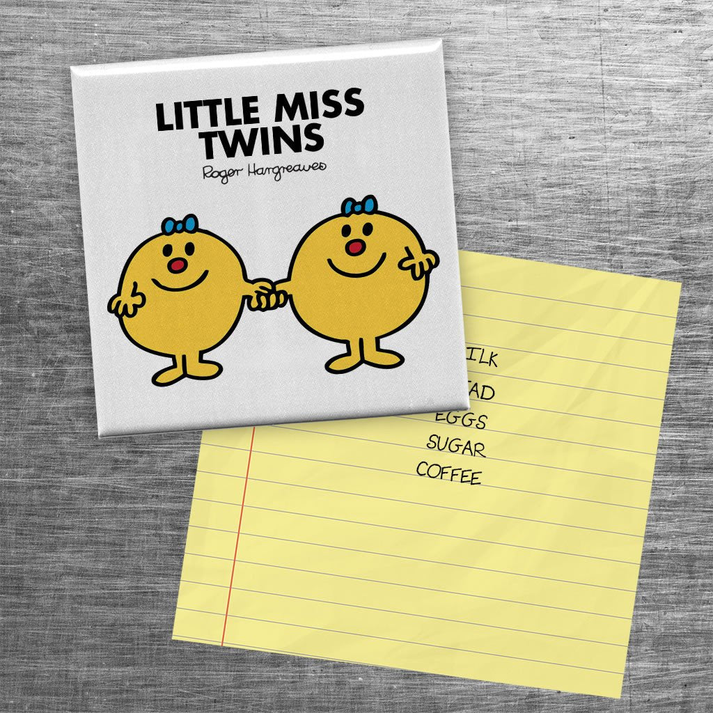 Little Miss Twins Square Magnet (Lifestyle)