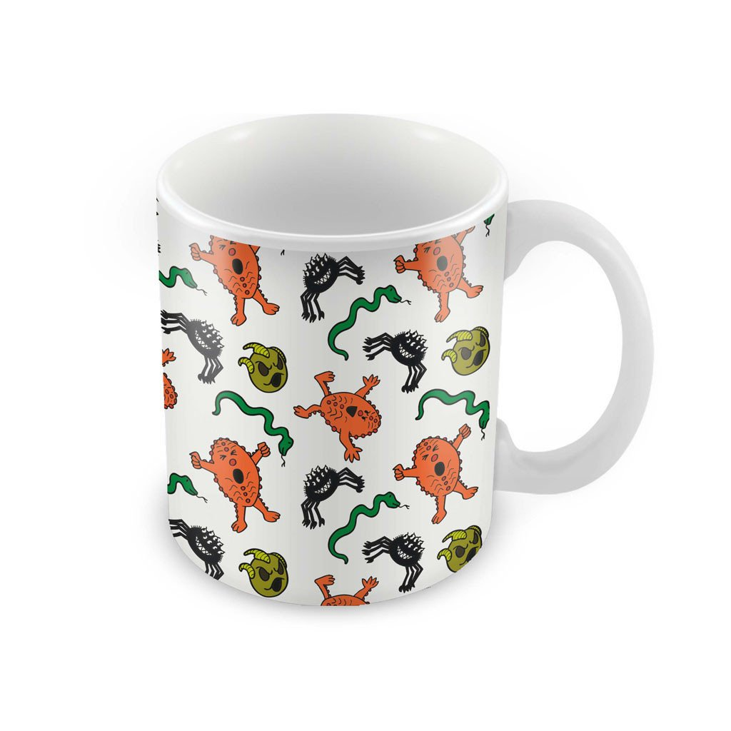 Monsters Pattern Porcelain Mug