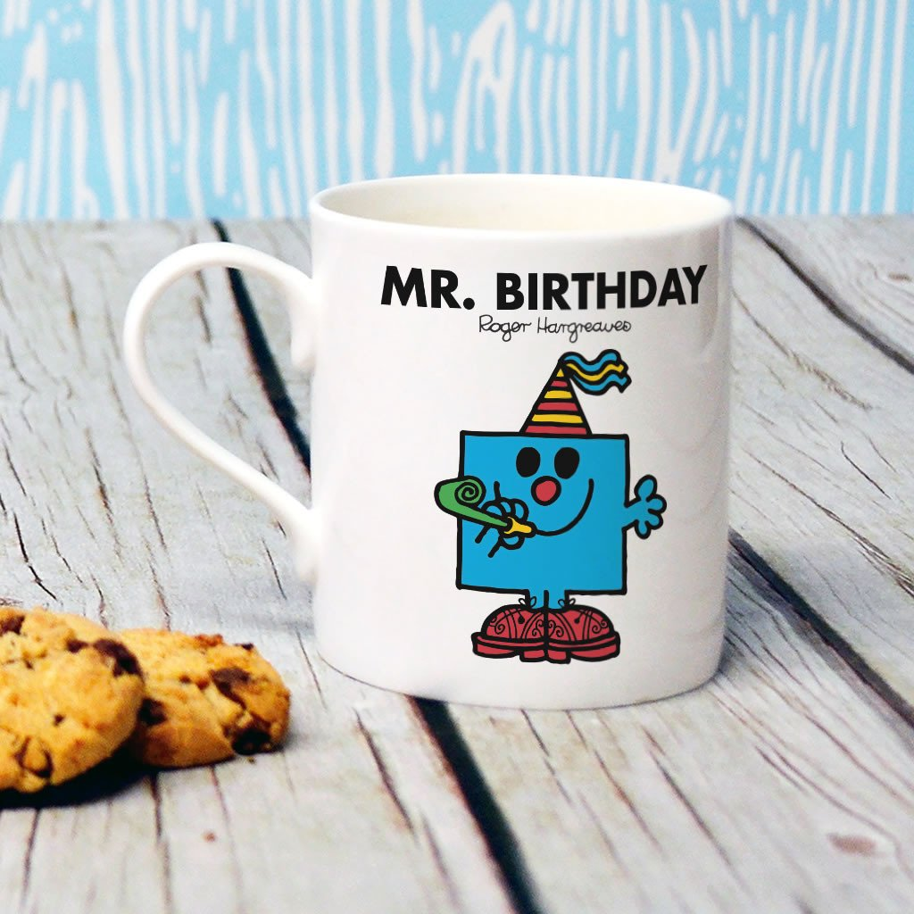 Mr. Birthday Bone China Mug (Lifestyle)