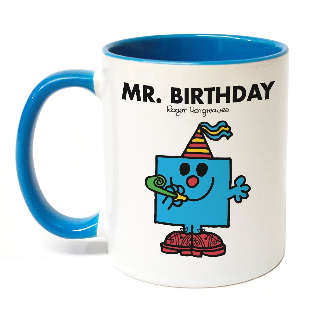 Mr. Birthday Large Porcelain Colour Handle Mug