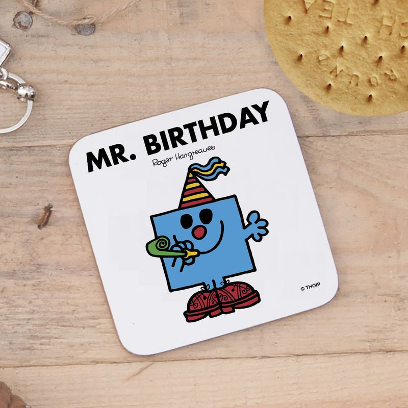 Mr. Birthday Cork Coaster (Lifestyle)