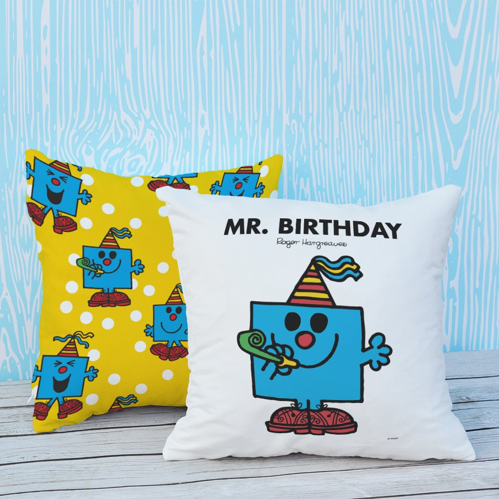 Mr. Birthday Micro Fibre Cushion (Lifestyle)