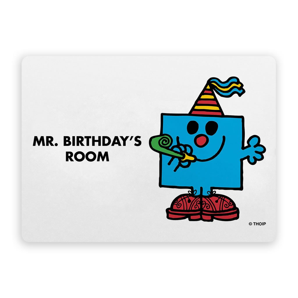 Mr. Birthday Door Plaque
