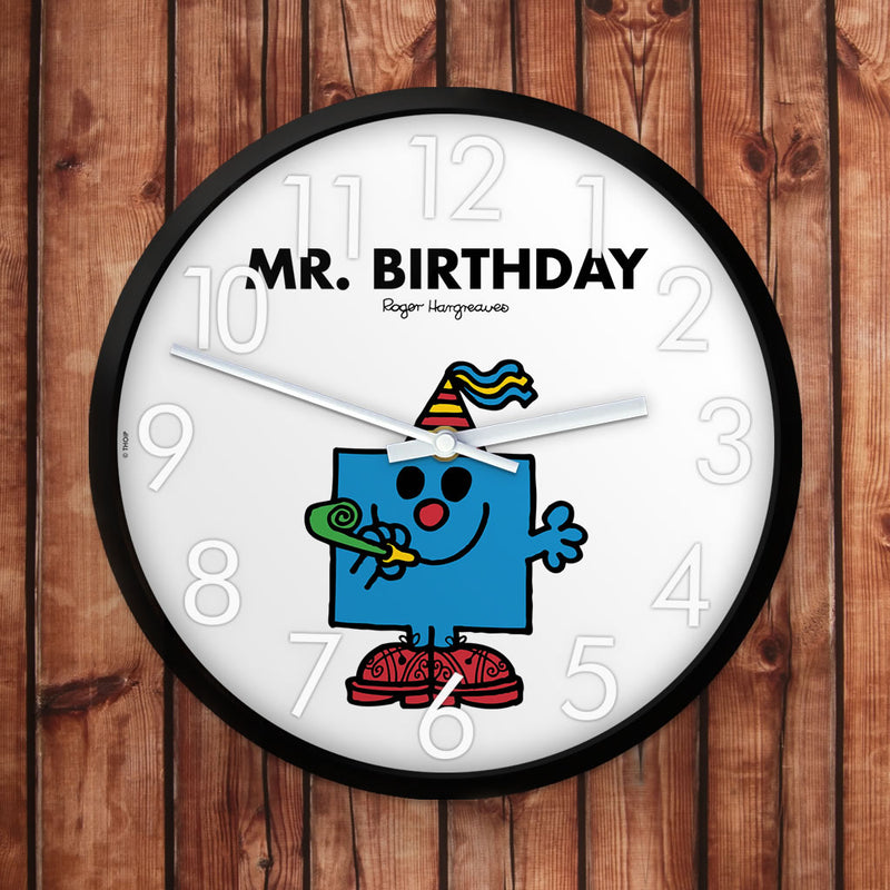 Mr. Birthday Personalised Clock (Lifestyle)