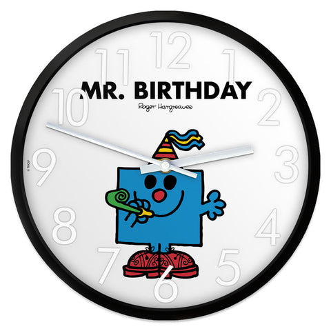 Mr. Birthday Personalised Clock