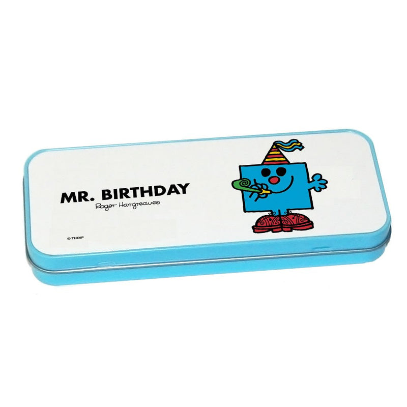Mr. Birthday Pencil Case Tin (Blue)