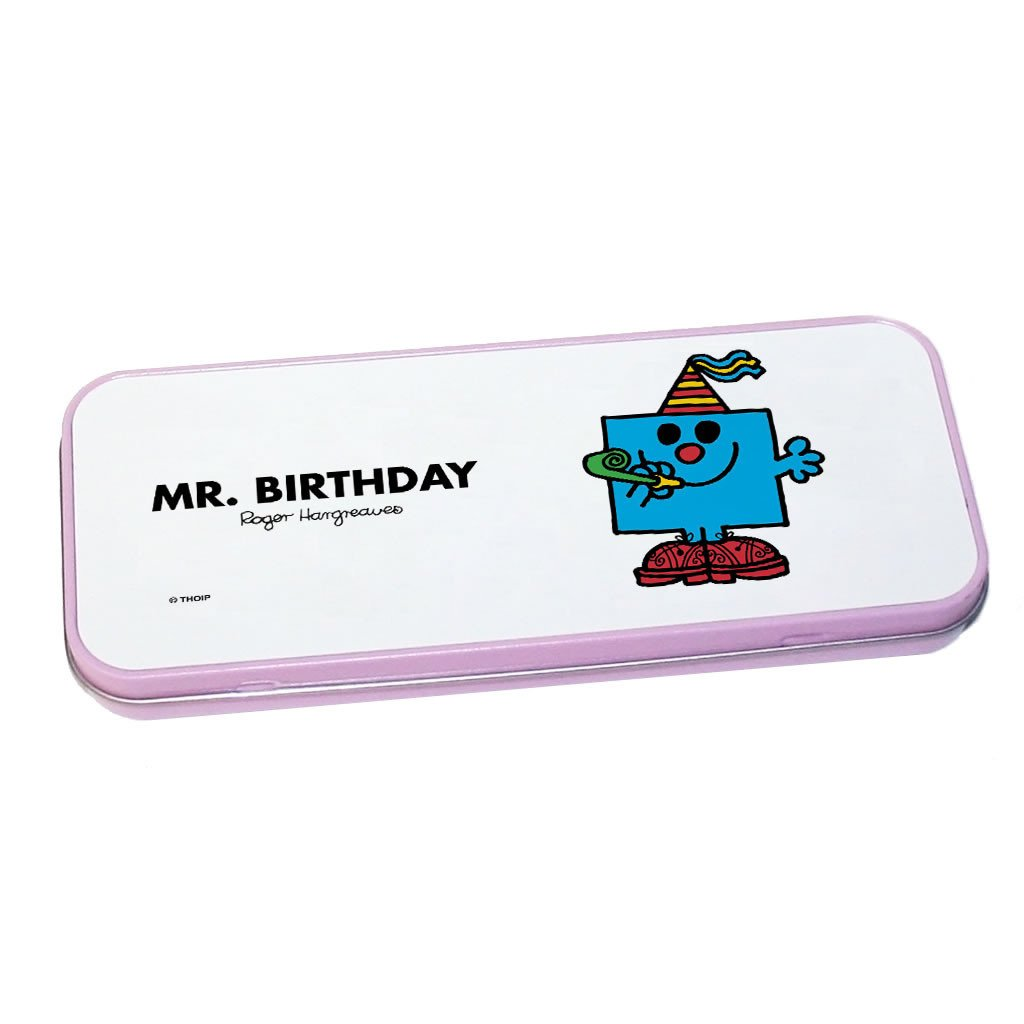 Mr. Birthday Pencil Case Tin (Pink)