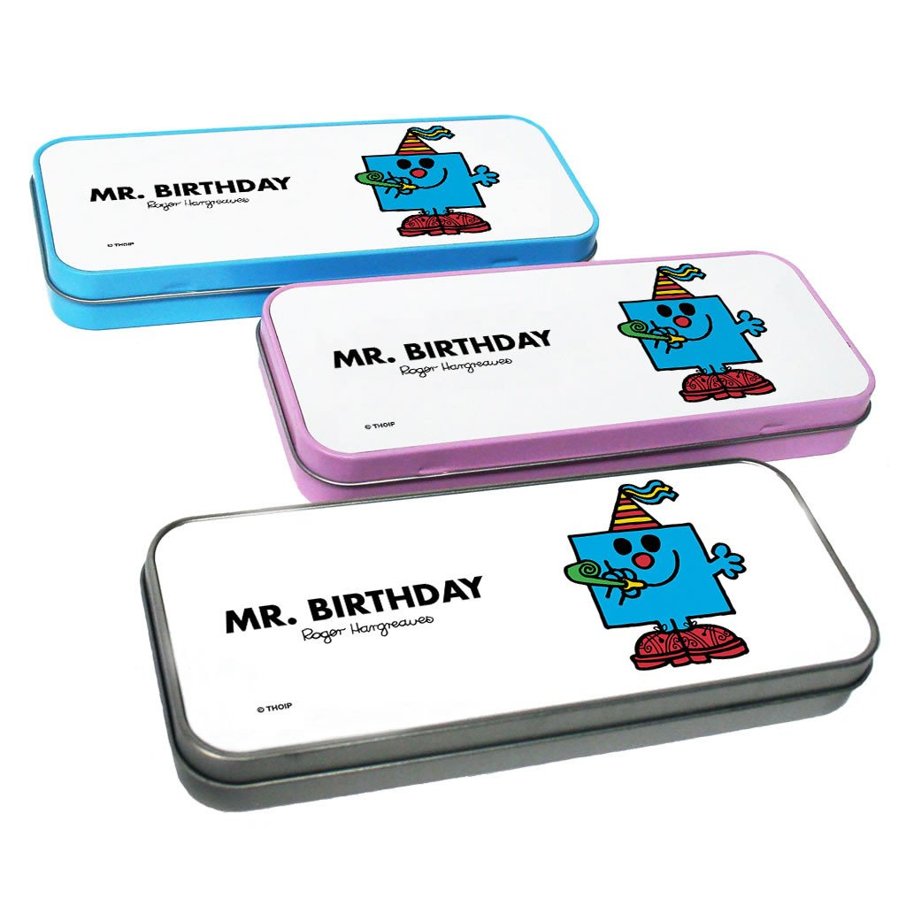 Mr. Birthday Pencil Case Tin