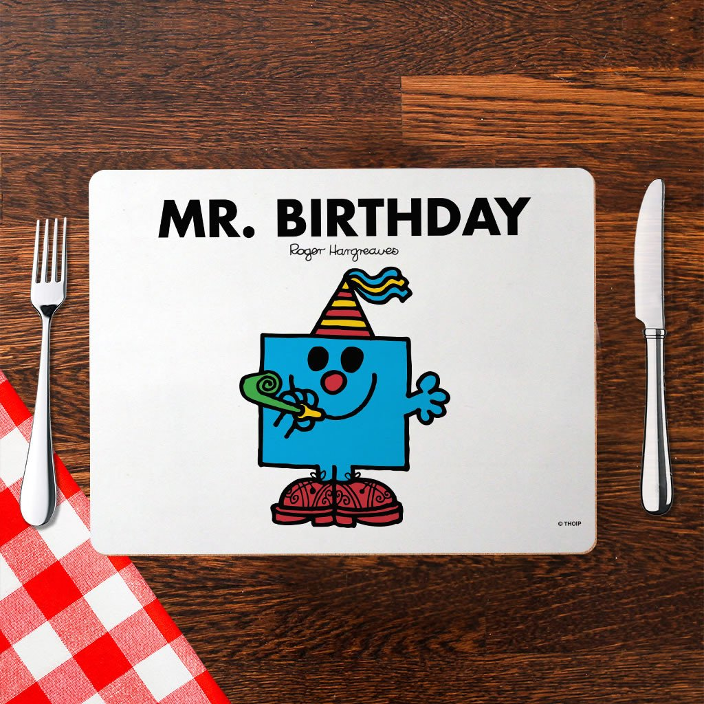 Mr. Birthday Cork Placemat (Lifestyle)