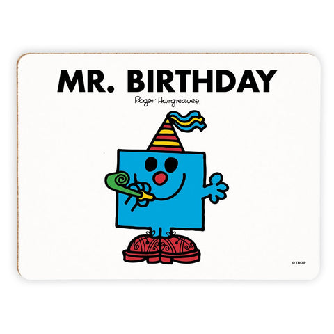 Mr. Birthday Cork Placemat