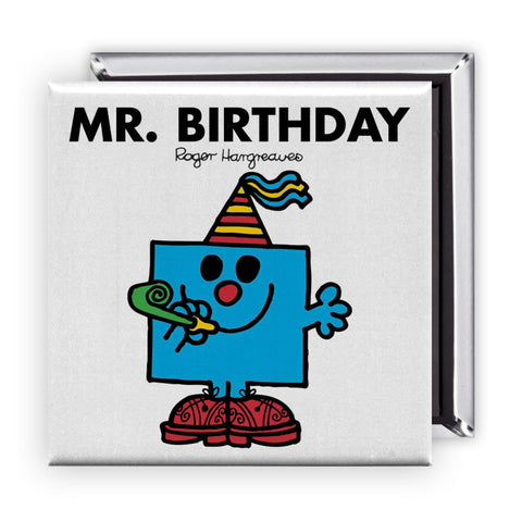 Mr. Birthday Square Magnet