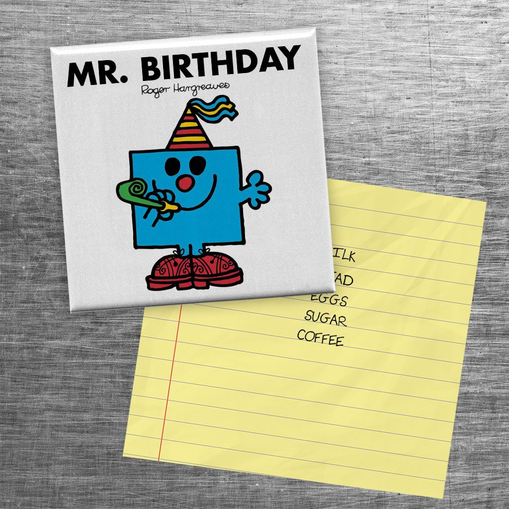 Mr. Birthday Square Magnet (Lifestyle)