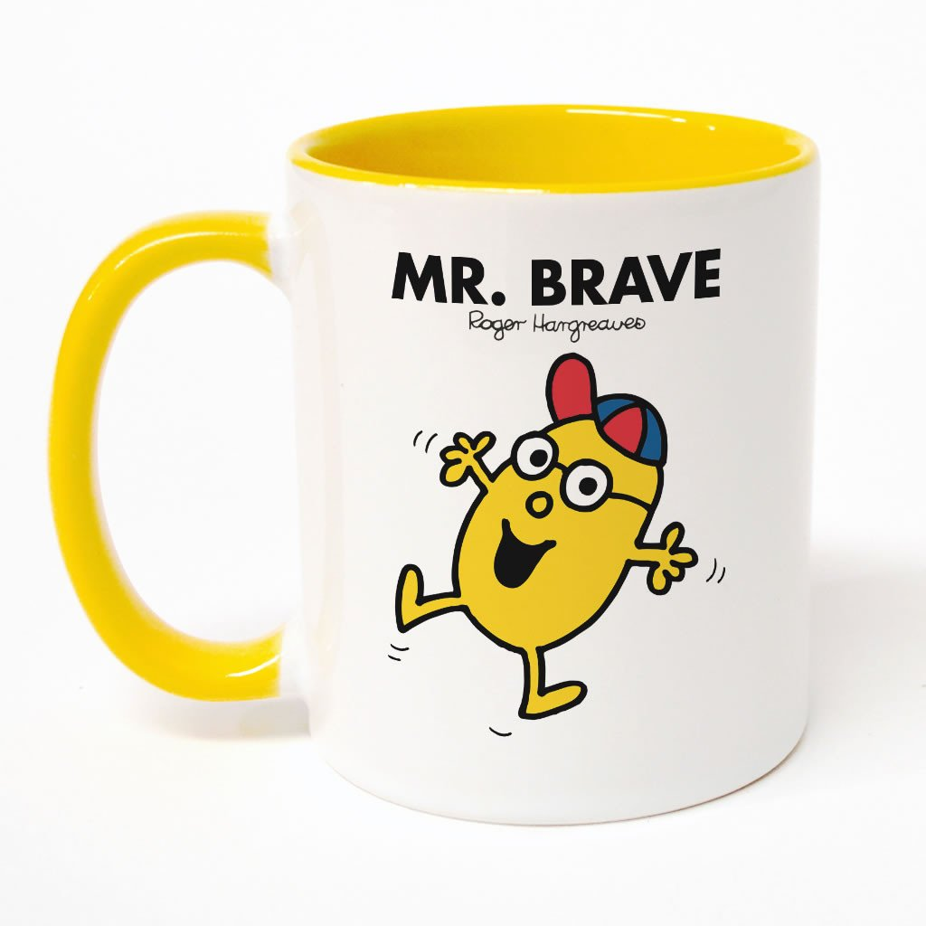 Mr. Brave Large Porcelain Colour Handle Mug