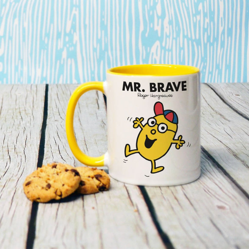 Mr. Brave Large Porcelain Colour Handle Mug (Lifestyle)