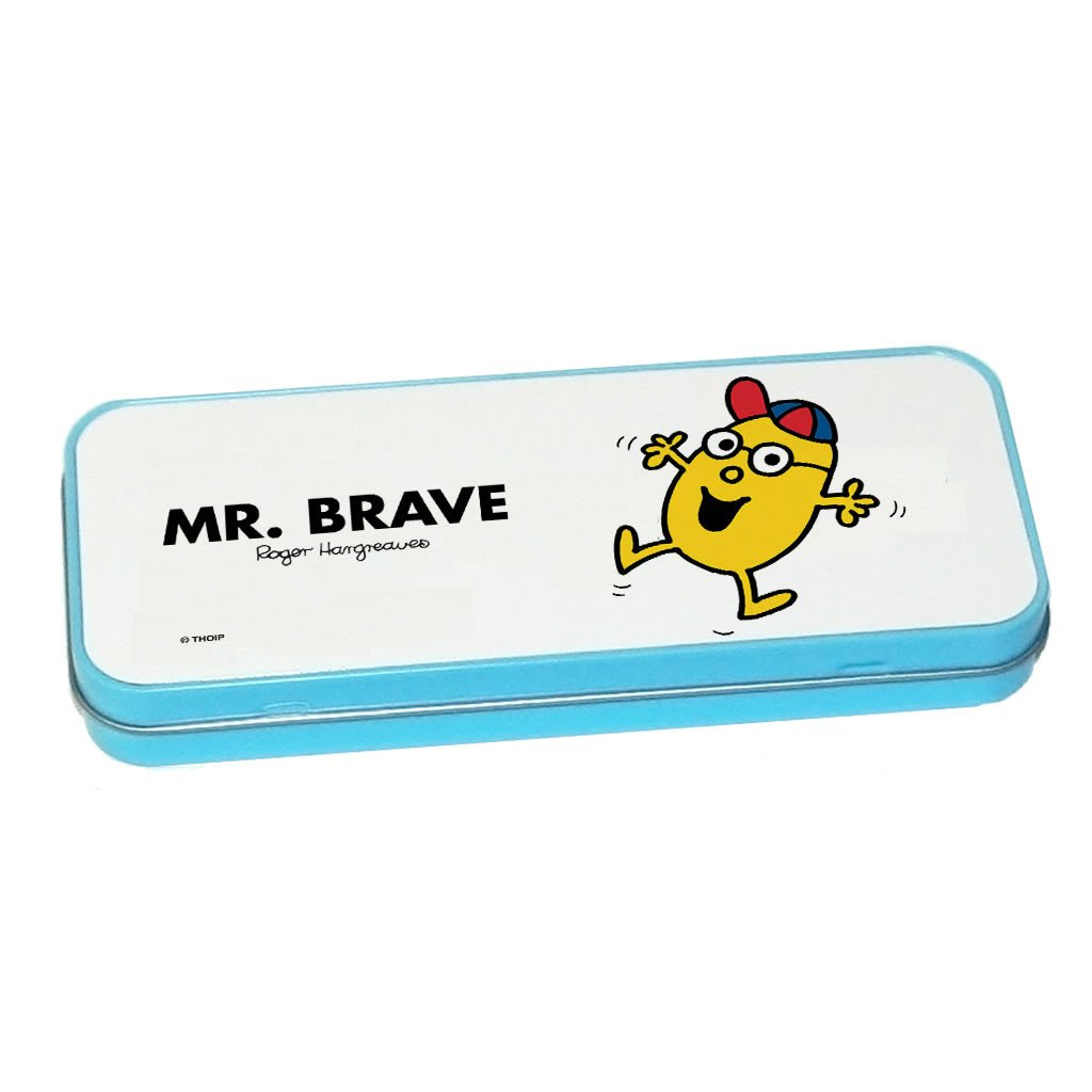 Mr. Brave Pencil Case Tin (Blue)