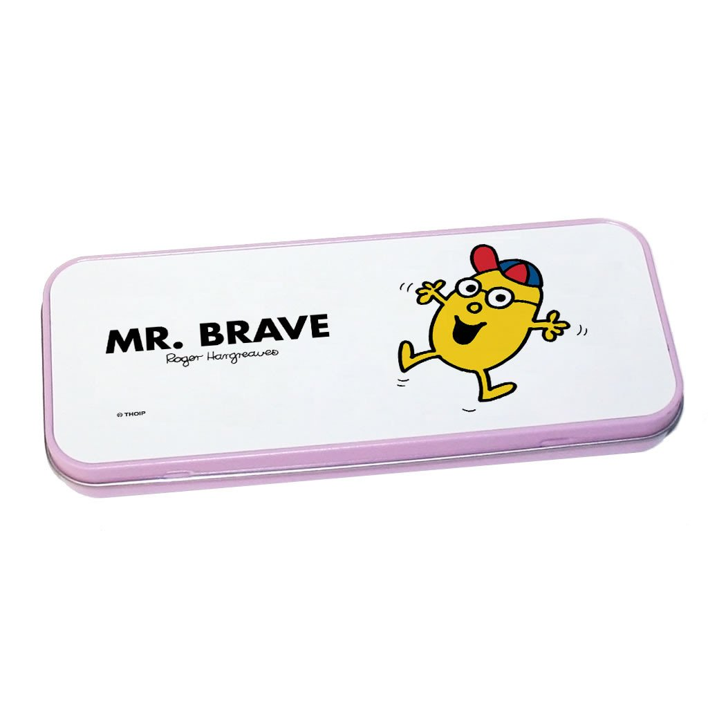 Mr. Brave Pencil Case Tin (Pink)