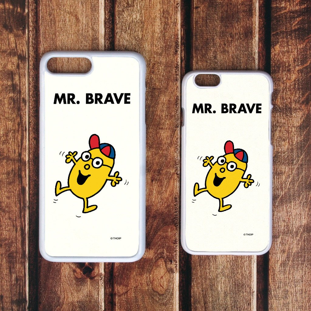 Mr. Brave White Phone Case (Lifestyle)