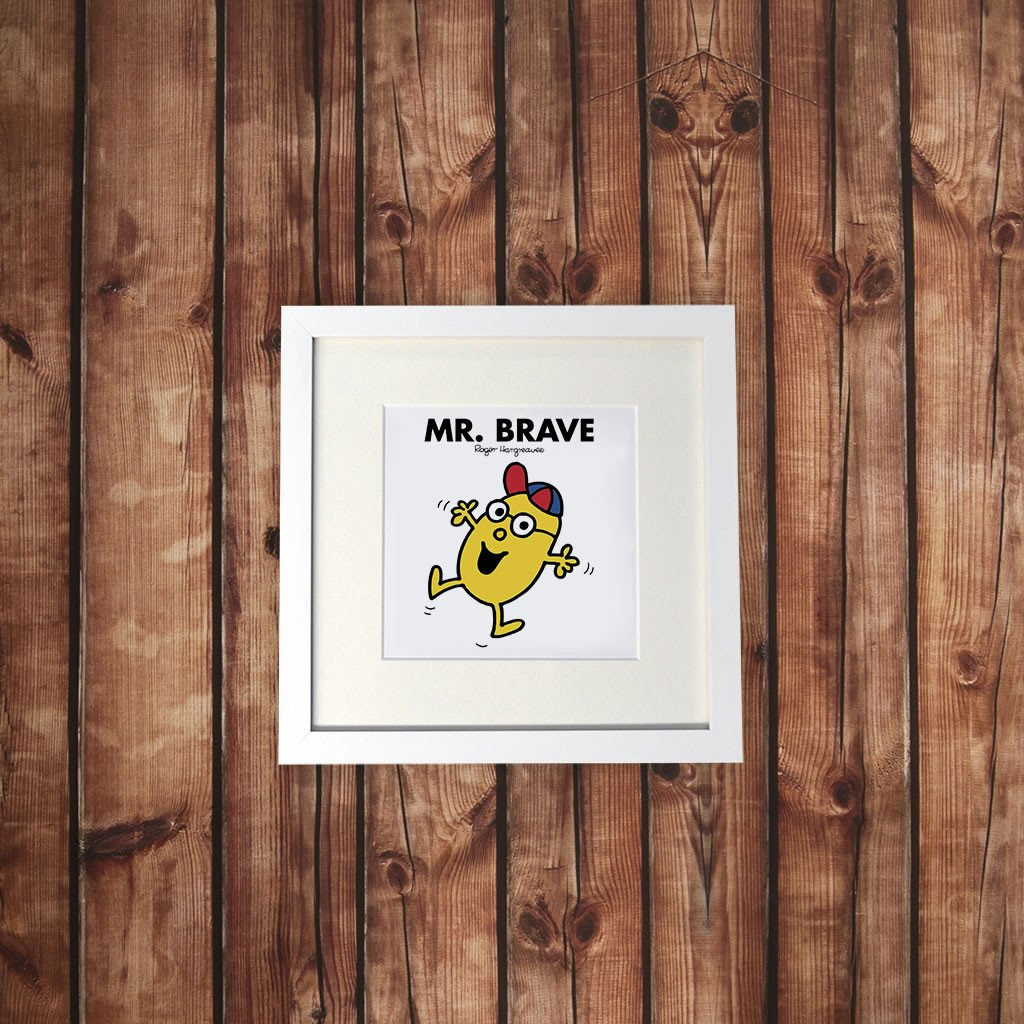 Mr. Brave White Framed Print (Lifestyle)