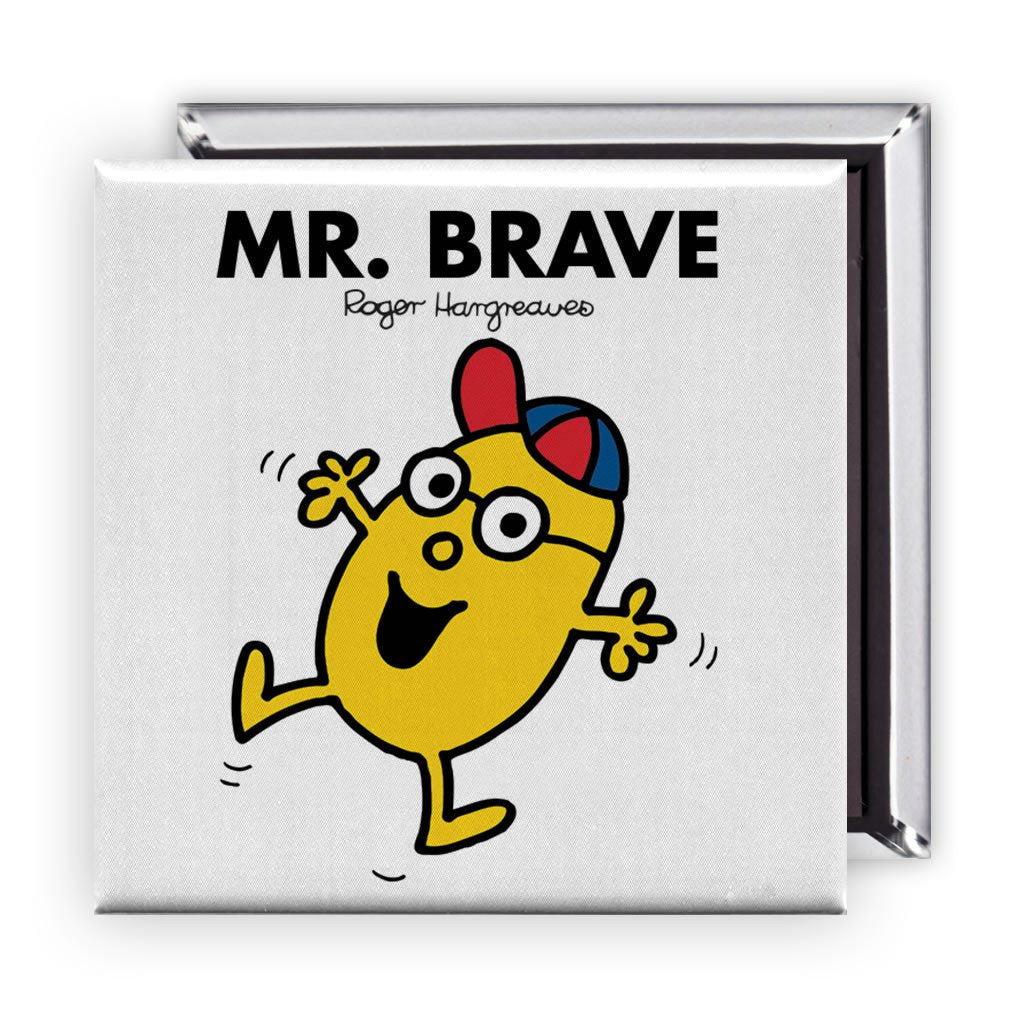 Mr. Brave Square Magnet