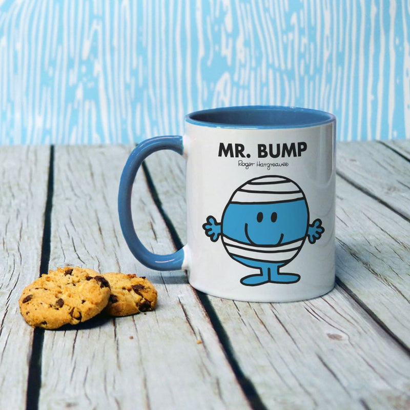 Mr. Bump Large Porcelain Colour Handle Mug (Lifestyle)