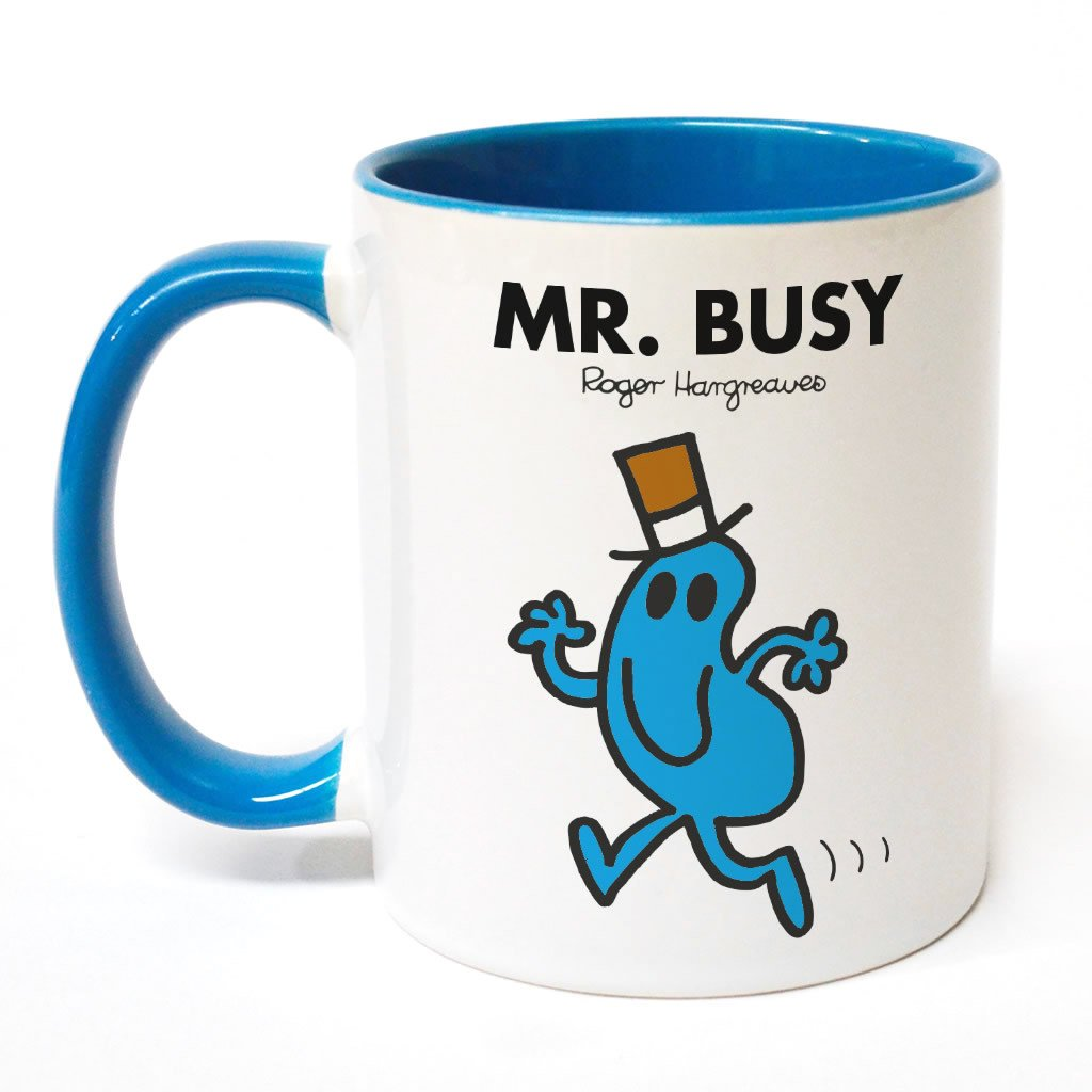 Mr. Busy Large Porcelain Colour Handle Mug