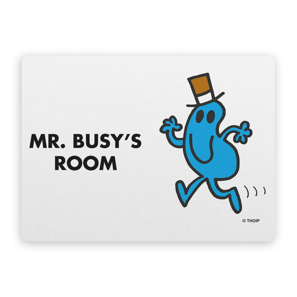 Mr. Busy Door Plaque