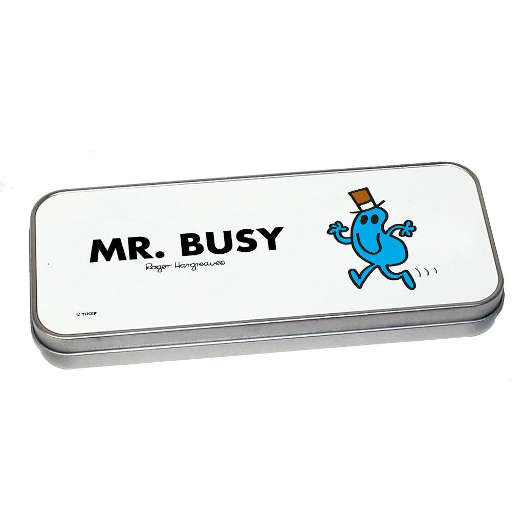 Mr. Busy Pencil Case Tin (Silver)