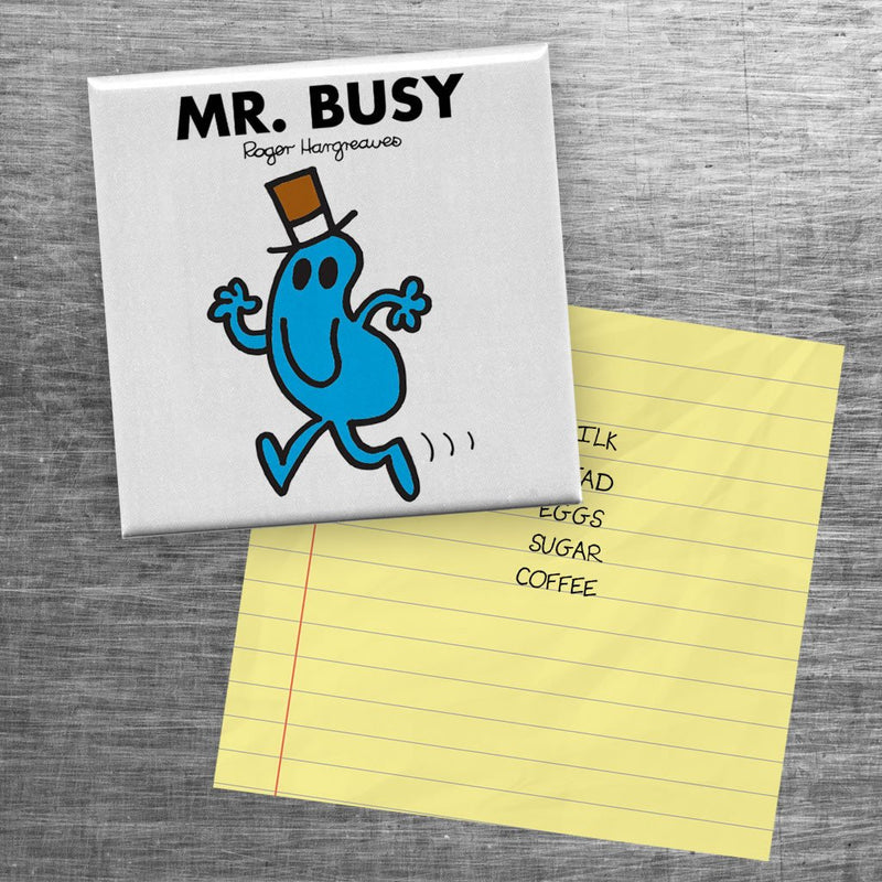 Mr. Busy Square Magnet (Lifestyle)