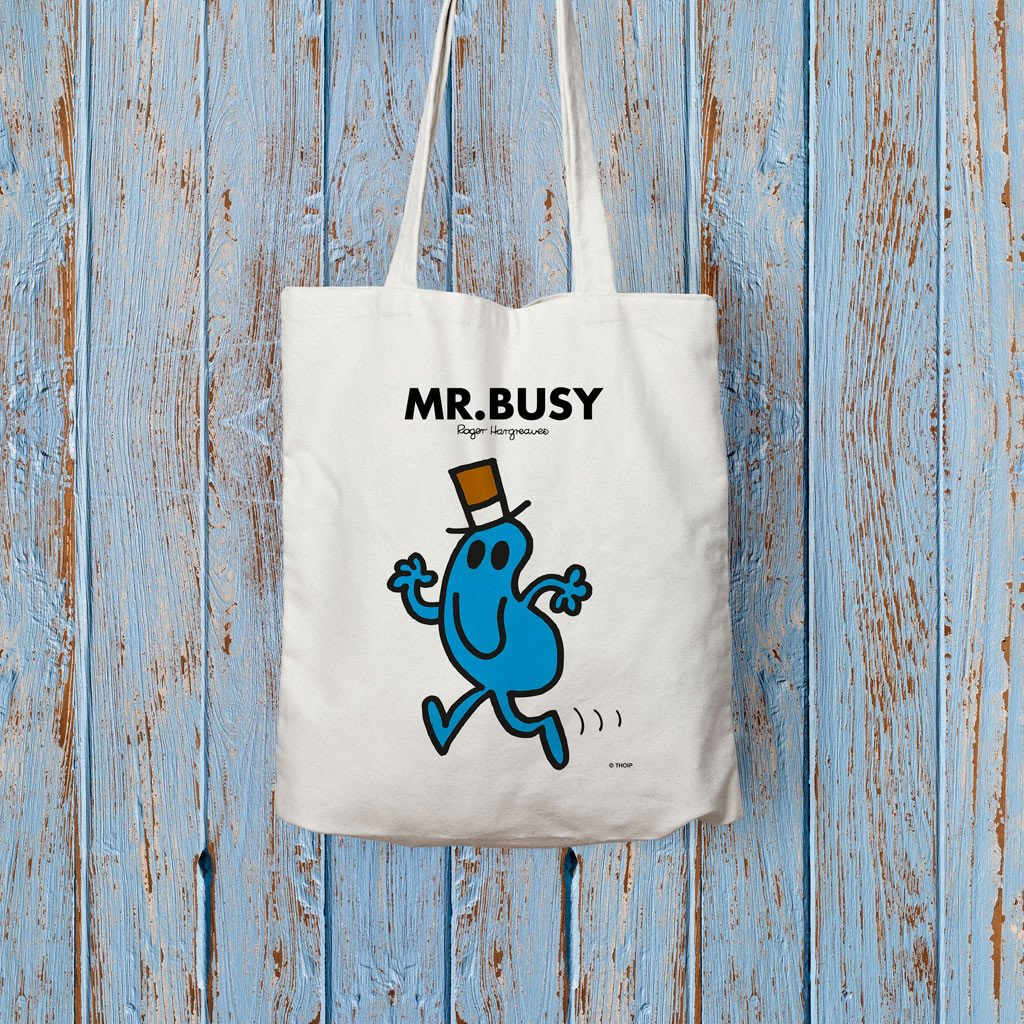 Mr. Busy Long Handled Tote Bag (Lifestyle)