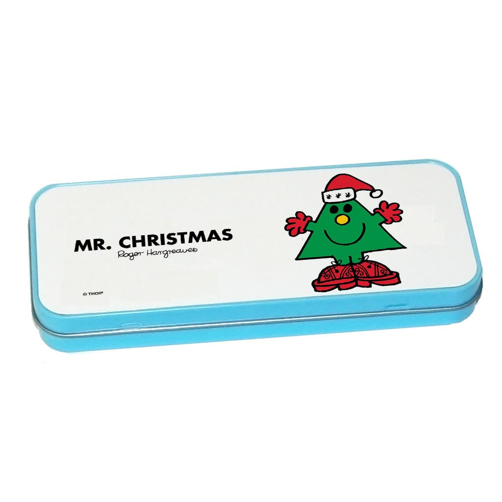 Mr. Christmas Pencil Case Tin (Blue)