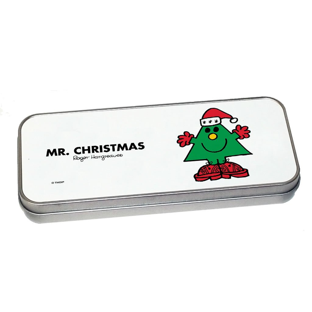 Mr. Christmas Pencil Case Tin (Silver)