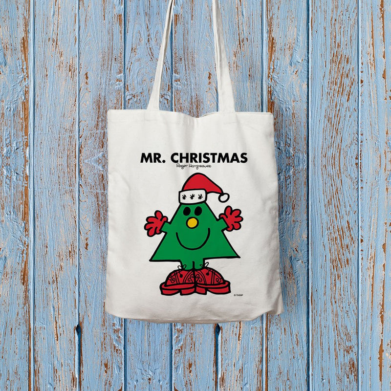 Mr. Christmas Long Handled Tote Bag (Lifestyle)