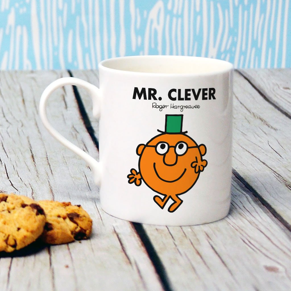 Mr. Clever Bone China Mug (Lifestyle)