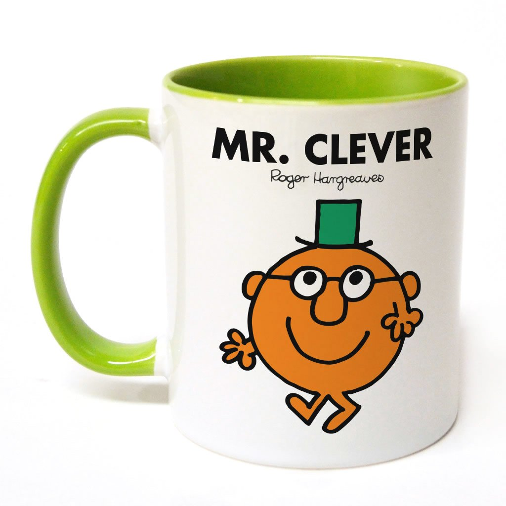 Mr. Clever Large Porcelain Colour Handle Mug