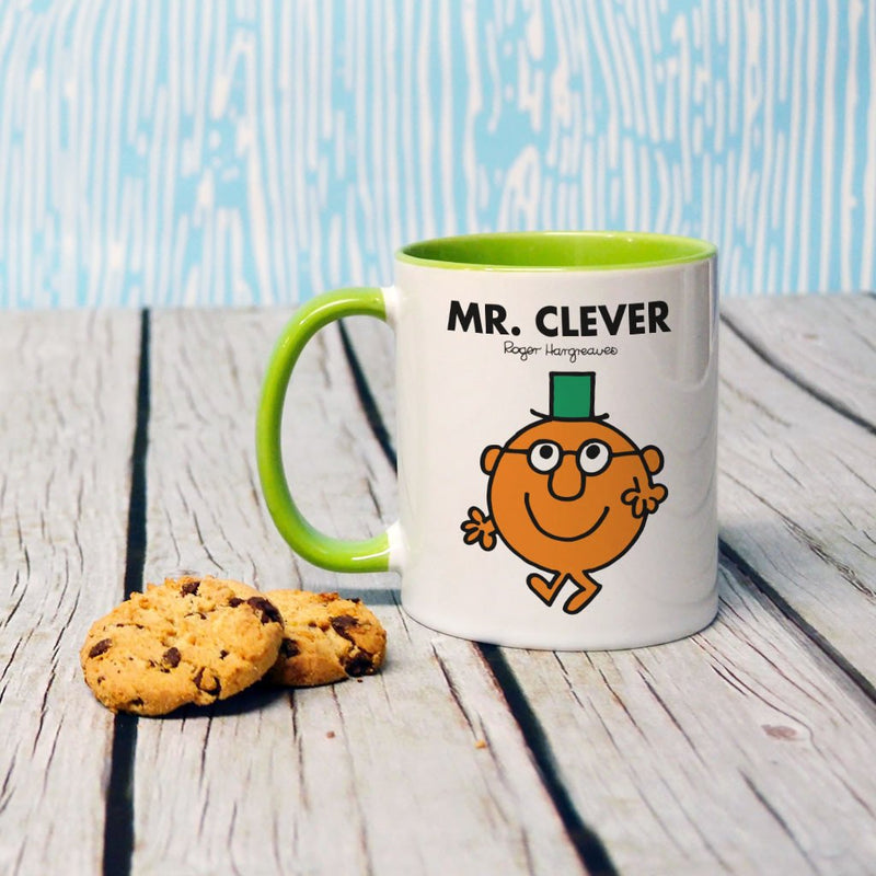 Mr. Clever Large Porcelain Colour Handle Mug (Lifestyle)