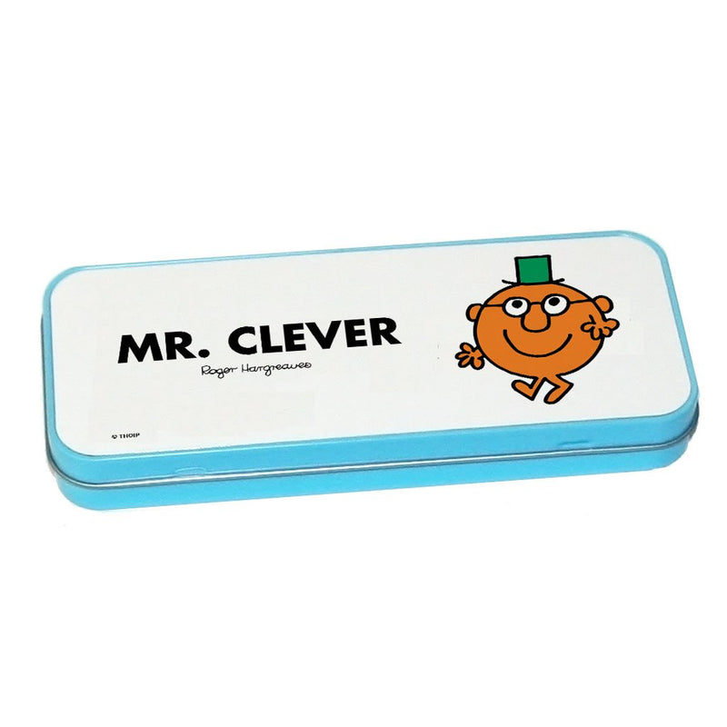 Mr. Clever Pencil Case Tin (Blue)