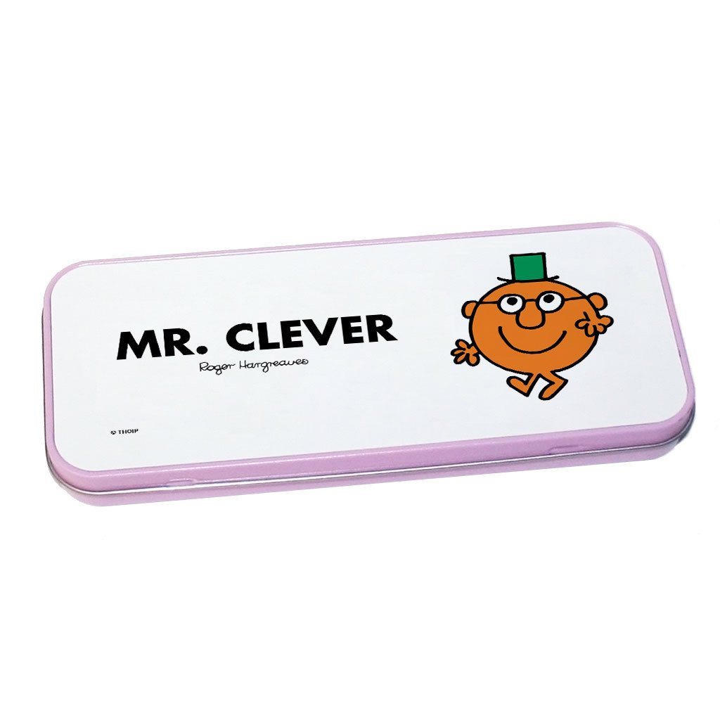 Mr. Clever Pencil Case Tin (Pink)